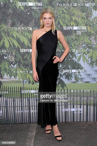 Lily Donaldson arrives for the Serpentine Summer Party at The Serpentine Gallery on July 6 2016 in London England