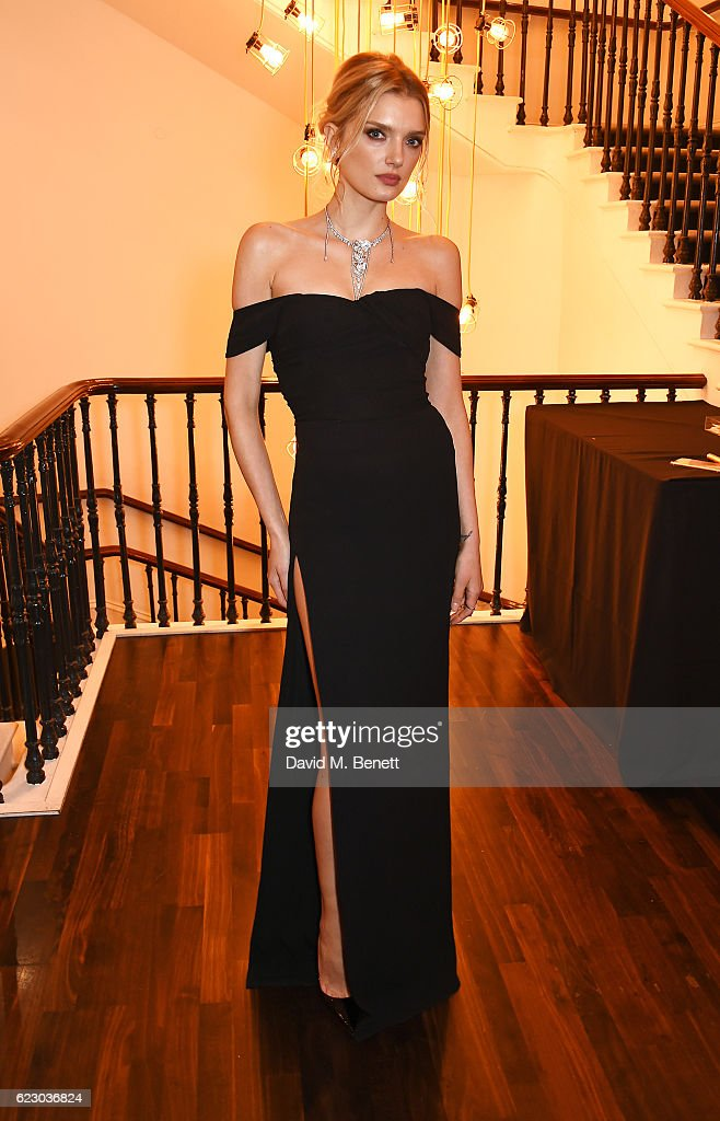 Lily Donaldson attends a cocktail reception at The 62nd London Evening Standard Theatre Awards, recognising excellence from across the world of theatre and beyond, at The Old Vic Theatre on November 13, 2016 in London, England.