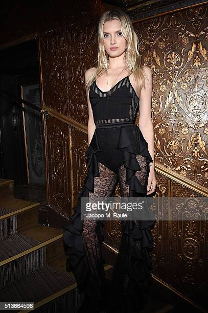 Lily Donaldson attends Balmain Aftershow Party as part of Paris Fashion Week Womenswear Automn/Winter 2016 at Restaurant Laperouse on March 3 2016 in...