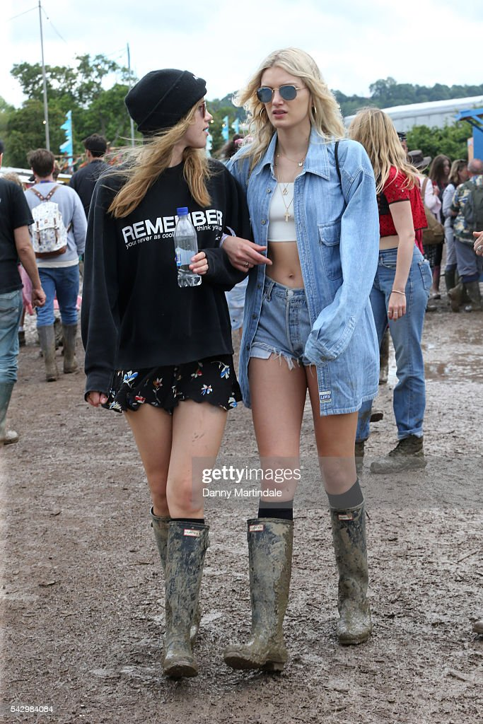 Lily Donaldson attends Day 2 of the Glastonbury Festival 2016 at Worthy Farm, Pilton on June 24, 2016 in Glastonbury, England.