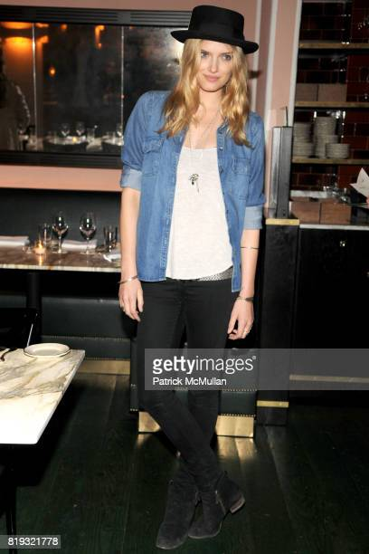 Lily Donaldson attends ISABEL MARANT NYC Store Opening Dinner at Kenmare on April 14 2010 in New York City