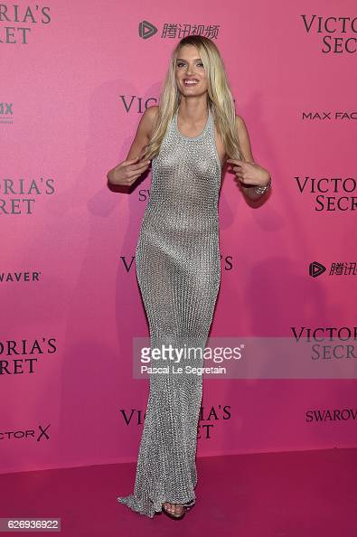 Lily Donaldson attends the 2016 Victoria's Secret Fashion Show after party on November 30 2016 in Paris France