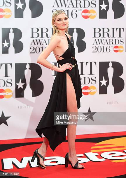 Lily Donaldson attends the BRIT Awards 2016 at The O2 Arena on February 24 2016 in London England