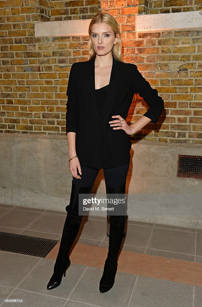 Lily Donaldson attends the Coach X Serpentine The Future Contemporaries Party at The Serpentine Sackler Gallery on February 21, 2015 in London, England.