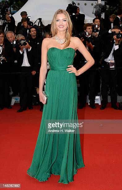 Lily Donaldson attends the 'Cosmopolis' premiere during the 65th Annual Cannes Film Festival at Palais des Festivals on May 25 2012 in Cannes France