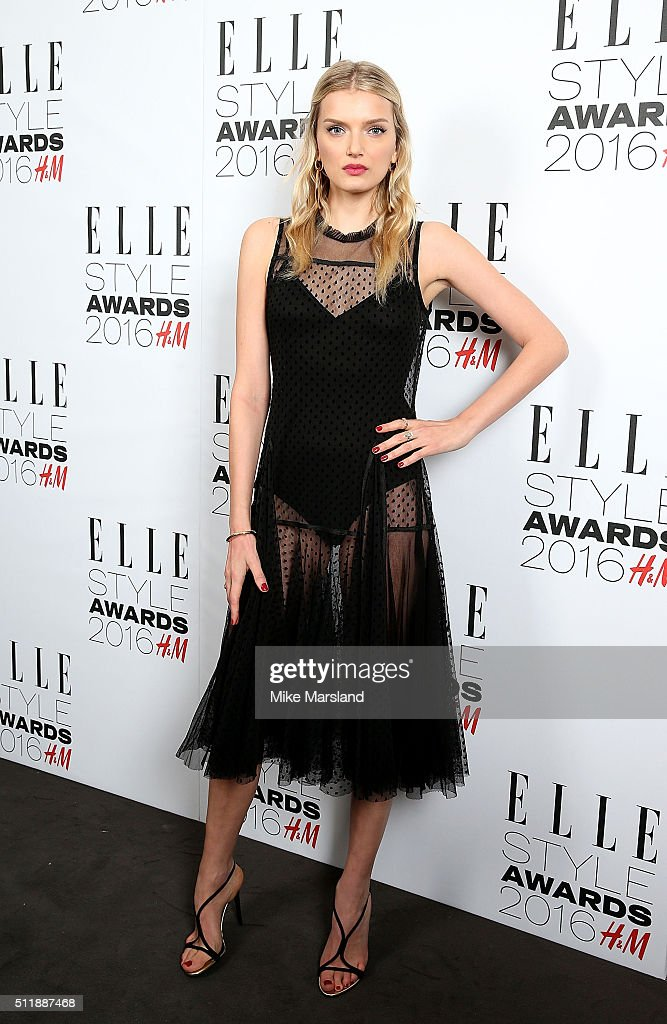 Lily Donaldson attends The Elle Style Awards 2016 on February 23, 2016 in London, England.