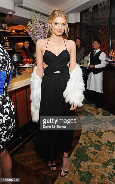 Lily Donaldson attends the 'Icons of Style' dinner hosted by Michael Kors and Vanity Fair on May 14 2015 in London United Kingdom