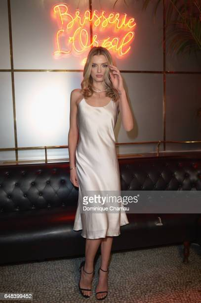 Lily Donaldson attends the 'L'Oreal Paris Dinner Hosted By Julianne Moore' as part of the Paris Fashion Week Womenswear Fall/Winter 2017/2018 on...