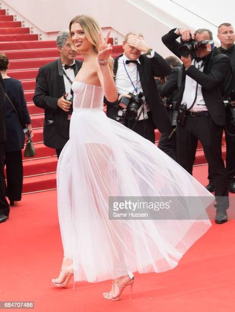 Lily Donaldson attends the 'Loveless ' screening during the 70th annual Cannes Film Festival at Palais des Festivals on May 18 2017 in Cannes France