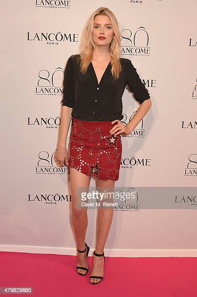 Lily Donaldson attends the photocall for the Lancome Celebrates 80 Years of Beauty With All Its Ambassadresses on July 7 2015 in Paris France