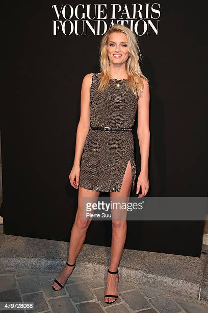 Lily Donaldson attends the Vogue Paris Foundation Gala at Palais Galliera on July 6 2015 in Paris France