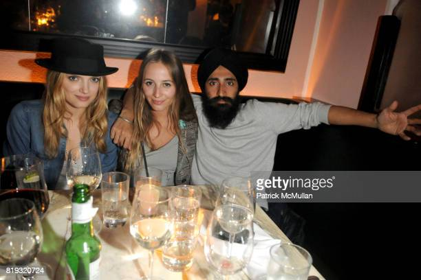 Lily Donaldson Harley VieraNewton and Waris Ahluwalia attend ISABEL MARANT NYC Store Opening Dinner at Kenmare on April 14 2010 in New York City