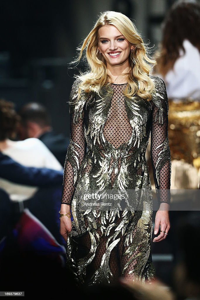 Lily Donaldson walks the runway as part as amfAR's 20th Annual Cinema Against AIDS during The 66th Annual Cannes Film Festival at Hotel du Cap-Eden-Roc on May 23, 2013 in Cap d'Antibes, France.