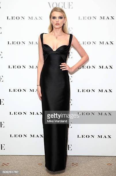 Lily Donladson attends at Vogue 100 A Century Of Style atNational Portrait Gallery on February 9 2016 in London England