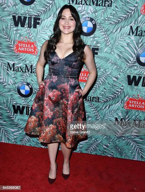 Lily Gladstone arrives at the 10th Annual Women In Film PreOscar Cocktail Party at Nightingale Plaza on February 24 2017 in Los Angeles California