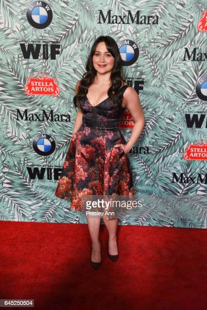 Lily Gladstone attends the 10th Annual Women In Film PreOscar Cocktail Party Arrivals at Nightingale Plaza on February 24 2017 in Los Angeles...