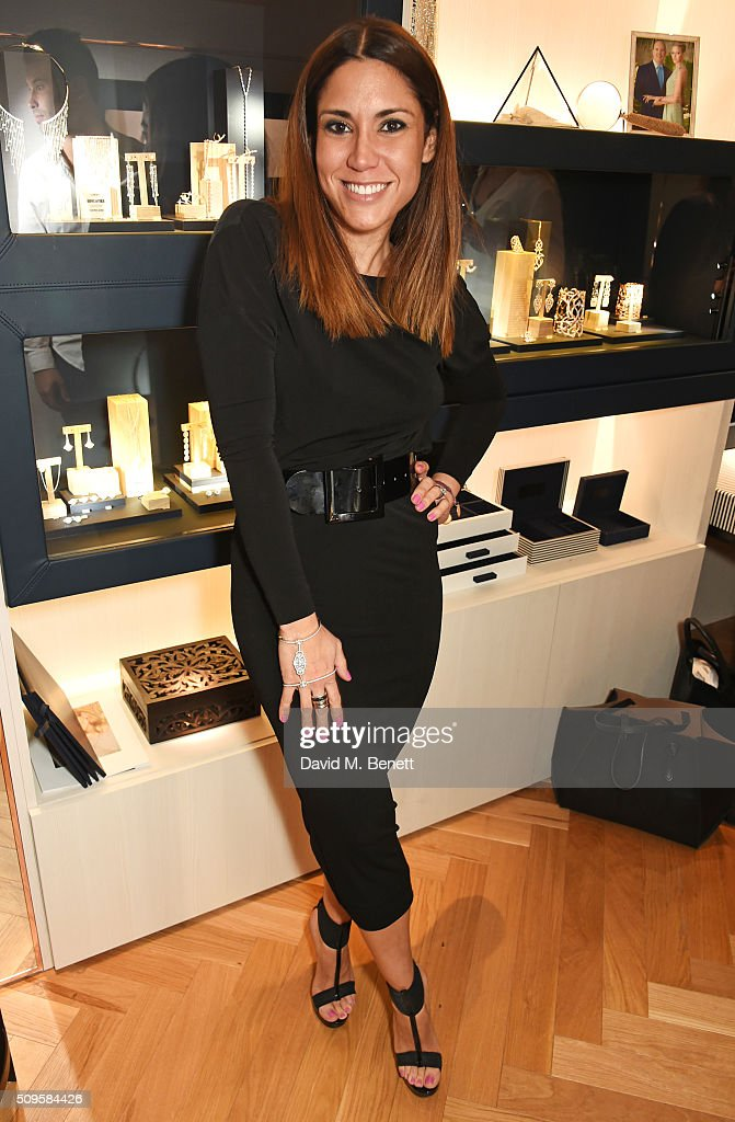 Lily Hodges attends the APM Monaco flagship store opening on South Molton Street on February 11, 2016 in London, England.