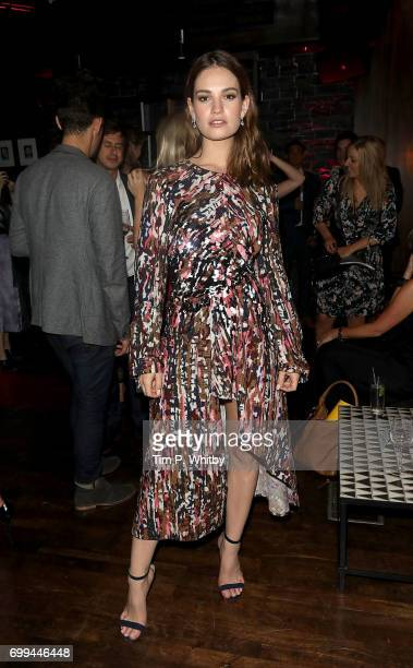 Lily James attends the after party for the European Premiere of Sony Pictures 'Baby Driver' on June 21 2017 in London England