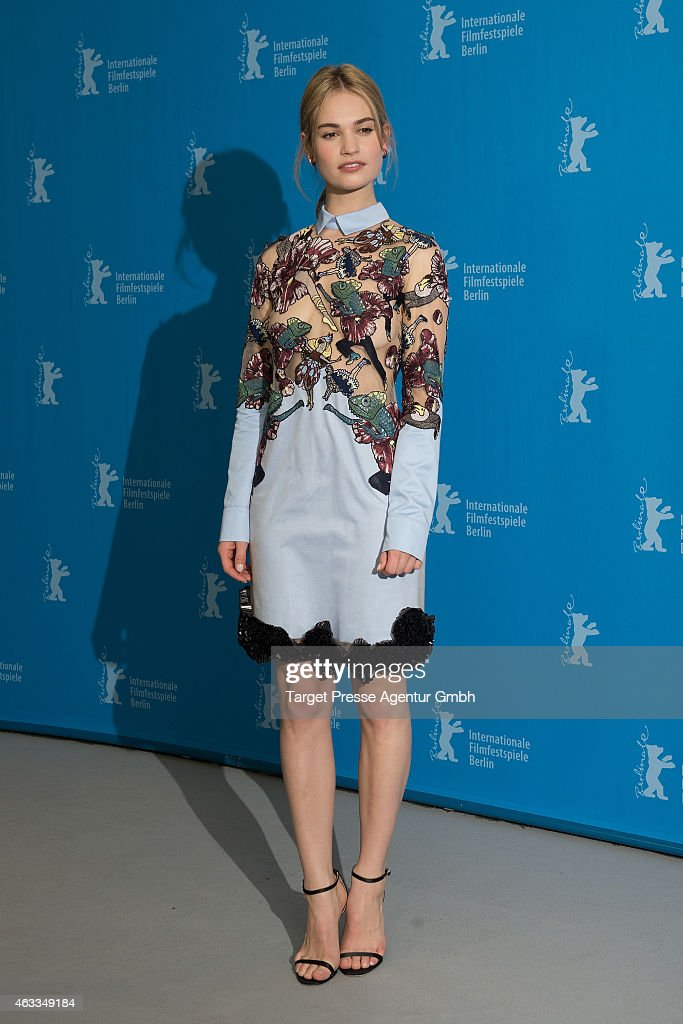 Lily James attends the 'Cinderella' photocall during the 65th Berlinale International Film Festival at Grand Hyatt Hotel on February 13 2015 in...