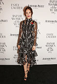 Lily James attends the Harper's Bazaar Women of the Year Awards 2015 at Claridges Hotel on November 3 2015 in London England