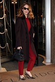 Lily James seen at leaving Claridges Hotel on February 2 2016 in London England