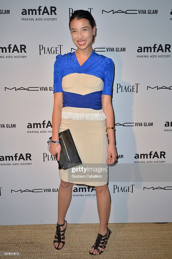 Lily Kwong attends the amfAR Inspiration Miami Beach Party on December 6, 2012 in Miami Beach, United States.