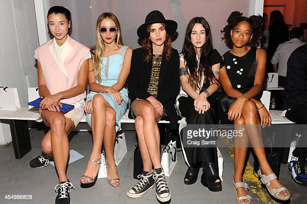 Lily Kwong Harley VieraNewton Langley Fox Zola Jesus and Kilo Kish attend the 31 Phillip Lim fashion show during MercedesBenz Fashion Week Spring...