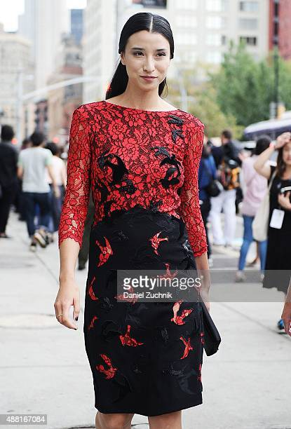 Lily Kwong is seen outside the DVF show during New York Fashion Week 2016 on September 13 2015 in New York City