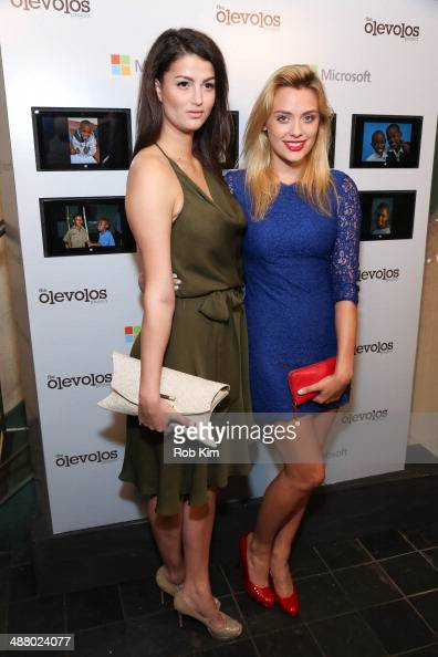 Lily Lane and Wallis Day attend the 3rd Annual Olevolos Project Brunch at Gallow Green at the McKittrick Hotel on May 3 2014 in New York City