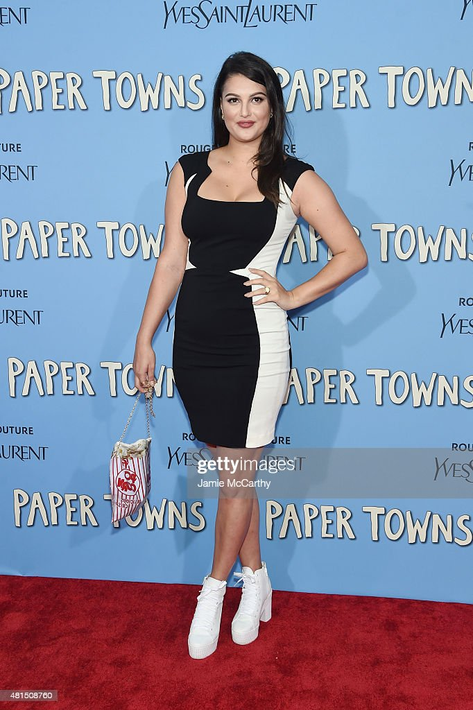 Lily Lane attends the New York premiere of 'Paper Towns' at AMC Loews Lincoln Square on July 21, 2015 in New York City.