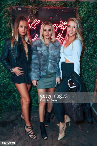 Lily Ludovici Tiffany Watson and Laura Brown attend the Tonteria relaunch party on October 12 2017 in London England