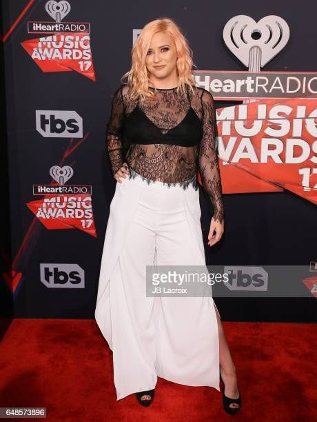 Lily Marston attends the 2017 iHeartRadio Music Awards at The Forum on March 5 2017 in Inglewood California