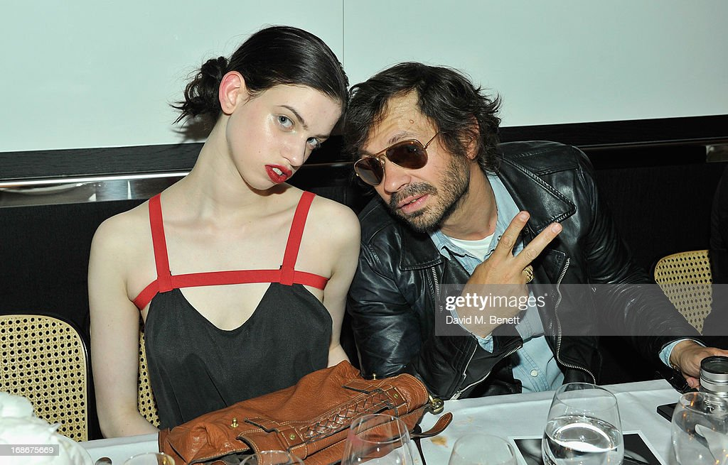 Lily McMenamy and Olivier Zahn attend Joe's x Purple Magazine dinner at Le Caprice on May 13, 2013 in London, United Kingdom.