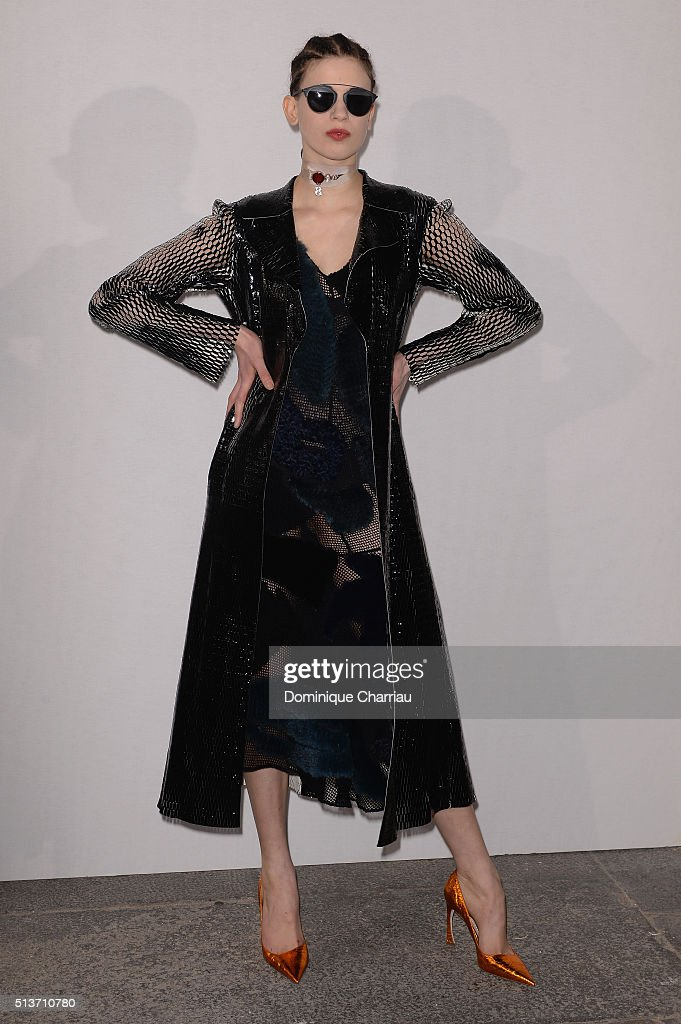 Lily McMenamy attends the Christian Dior show as part of the Paris Fashion Week Womenswear Fall/Winter 2016/2017 on March 4, 2016 in Paris, France.