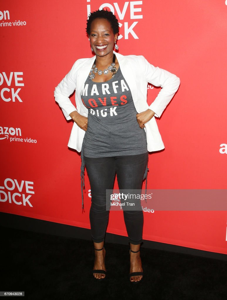 Lily Mojekwu arrives at the Los Angeles premiere of Amazon's 'I Love Dick' held at Linwood Dunn Theater on April 20, 2017 in Los Angeles, California.