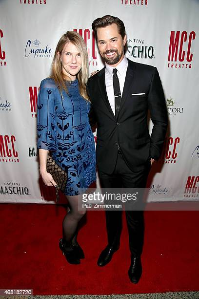 Lily Rabe and Andrew Rannells attend MCC Theater's 2015 Gala Miscast 2015 at Hammerstein Ballroom on March 30 2015 in New York City