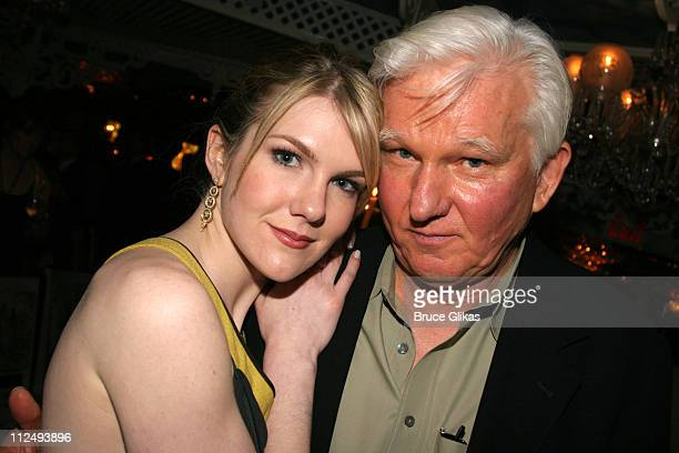 Lily Rabe and father David Rabe during 'Steel Magnolias' Opening Night on Broadway After Party Inside at Tavern on the Green in New York City New...