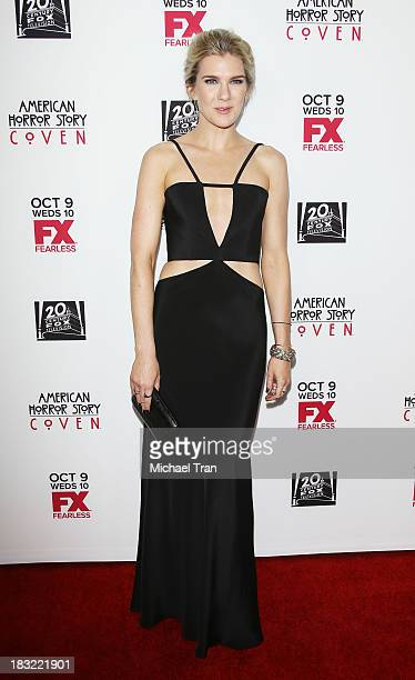 Lily Rabe arrives at the premiere of FX's 'American Horror Story Coven' held at Pacific Design Center on October 5 2013 in West Hollywood California