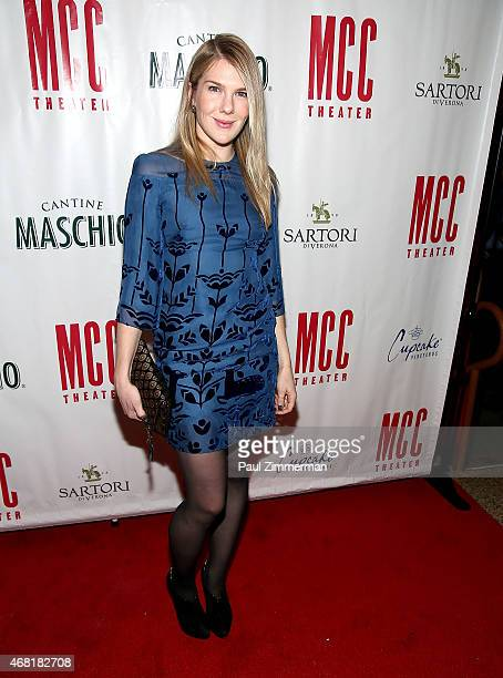 Lily Rabe attends MCC Theater's 2015 Gala Miscast 2015 at Hammerstein Ballroom on March 30 2015 in New York City