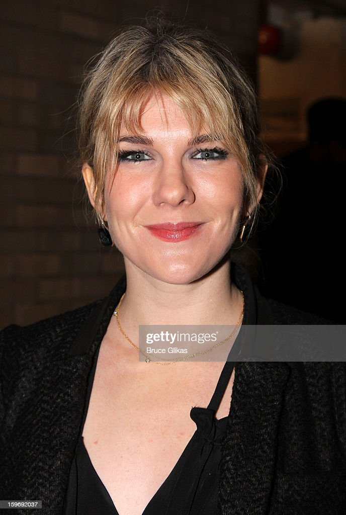 Lily Rabe attends the Broadway opening night of 'Cat On A Hot Tin Roof' at The Richard Rodgers Theatre on January 17, 2013 in New York City.