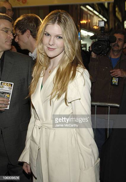 Lily Rabe during 'Barefoot in the Park' Broadway Opening Night Arrivals in New York City New York United States