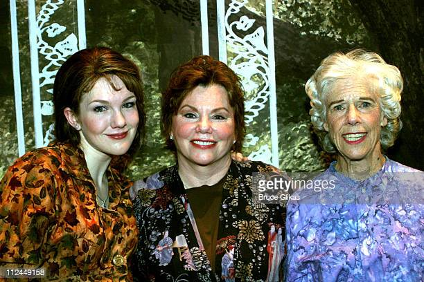 Lily Rabe Marsha Mason and Frances Sternhagen during 'Steel Magnolias' Final Performance on Broadway Benefiting The Actors Fund of America at The...