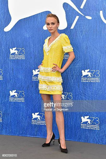 Lily Rose Depp attends a photocall for 'Planetarium' during the 73rd Venice Film Festival at Palazzo del Casino on September 8 2016 in Venice Italy