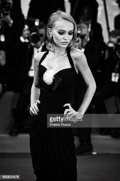 Lily Rose Depp attends the premiere of 'Planetarium' during the 73rd Venice Film Festival at Sala Darsena on September 8 2016 in Venice Italy