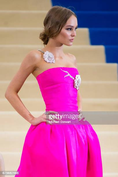 Lily Rose Depp attends the 'Rei Kawakubo/Comme des Garcons Art Of The InBetween' Costume Institute Gala at Metropolitan Museum of Art on May 1 2017...