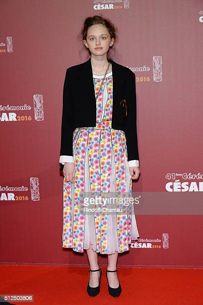 Lily Taieb arrives at The Cesar Film Awards 2016 at Theatre du Chatelet on February 26 2016 in Paris France