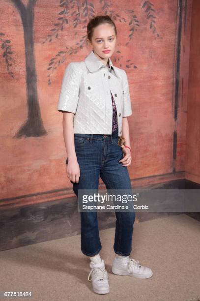 Lily Taieb attends the Chanel Cruise 2017/2018 Collection Photocall at Grand Palais on May 3 2017 in Paris France