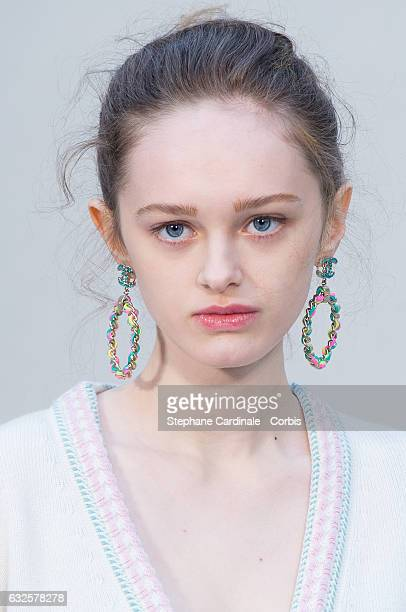 Lily Taieb attends the Chanel Haute Couture Spring Summer 2017 show as part of Paris Fashion Week on January 24 2017 in Paris France