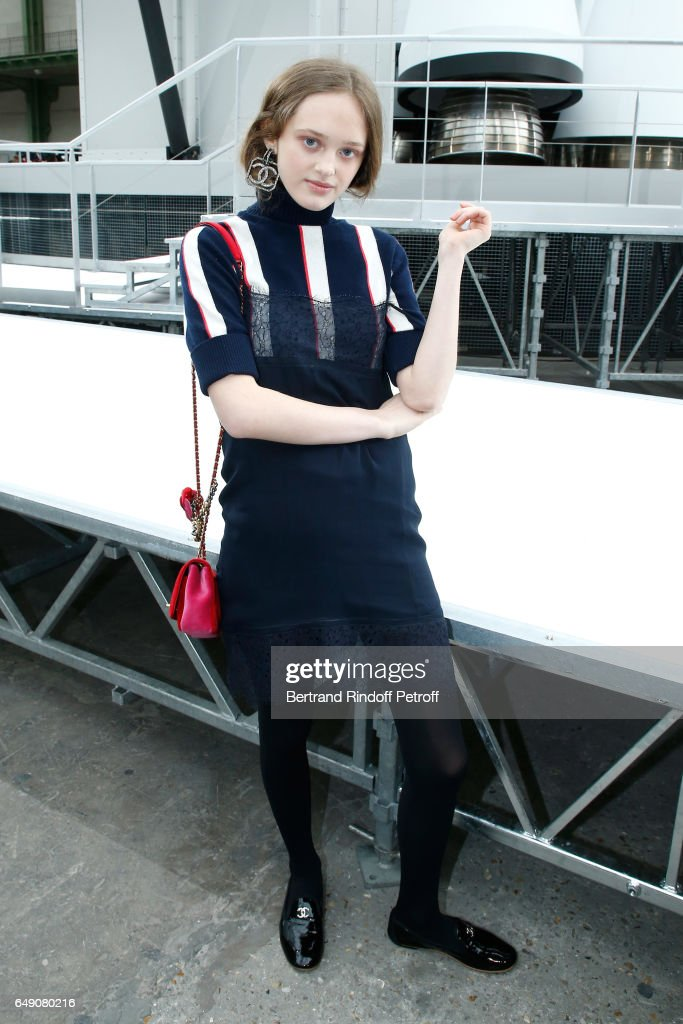 Lily Taieb attends the Chanel show as part of the Paris Fashion Week Womenswear Fall/Winter 2017/2018 on March 7, 2017 in Paris, France.