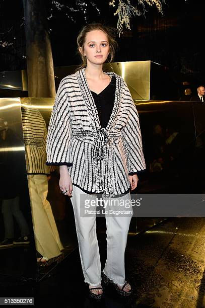 Lily Taieb attends the HM show as part of the Paris Fashion Week Womenswear Fall/Winter 2016/2017 on March 2 2016 in Paris France